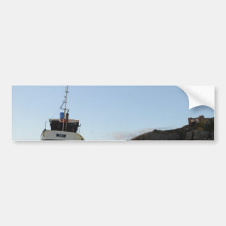 Hastings At Dusk With Fishing Boat Bumper Sticker