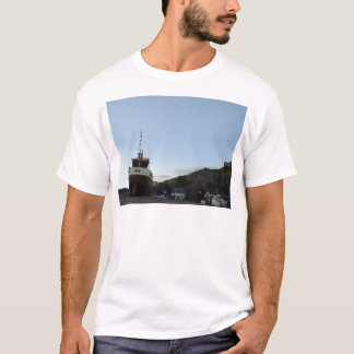 Hastings At Dusk With Fishing Boat T-Shirt