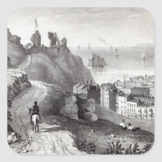 Hastings Castle from the Revd W Square Sticker