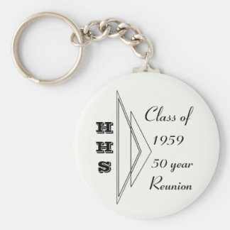 Hastings class of 1959 50 year reunion basic round button keychain