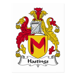 Hastings Family Crest Postcard