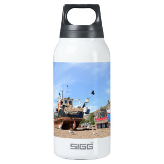 Hastings Fishing Boats On The Beach Insulated Water Bottle