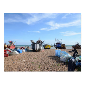 Hastings Fishing Boats Postcard