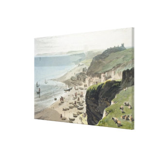 Hastings, from the East Cliff, from 'A Voyage Arou Canvas Print