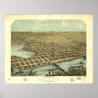 Hastings Minnesota 1867 Antique Panoramic Map Print