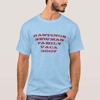 HASTINGS NEWMAN Family Vaca 2007 T-Shirt