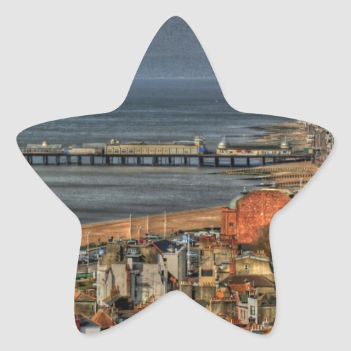 Hastings Old Town & Pier Star Stickers