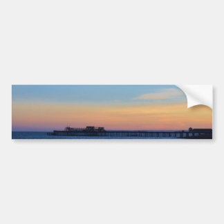 Hastrings Pier At Sunset Bumper Sticker