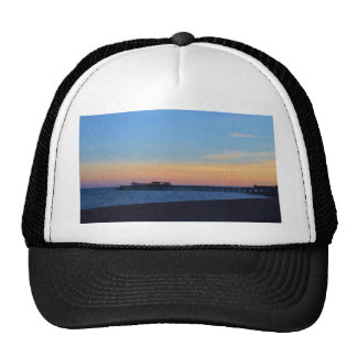 Hastrings Pier At Sunset Trucker Hat