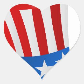 hat america uncle sam uncle sam hat heart sticker