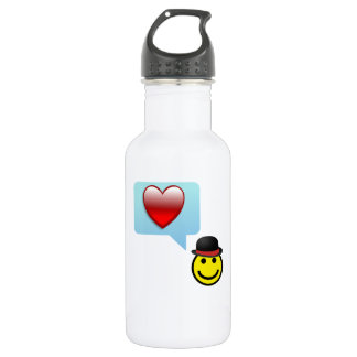 Hat and Heart 18oz Water Bottle