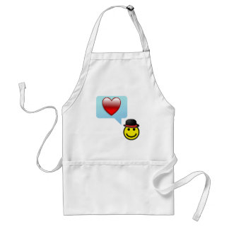 Hat and Heart Adult Apron