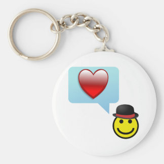 Hat and Heart Key Chain