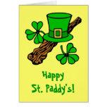 Hat And Shamrocks St. Patrick's Greeting Card