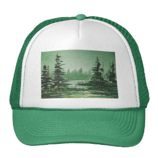 Hat Ann Hayes Painting Green Forest