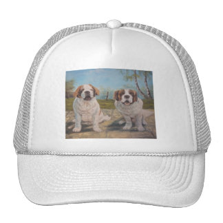 Hat Ann Hayes Painting Two St Bernards