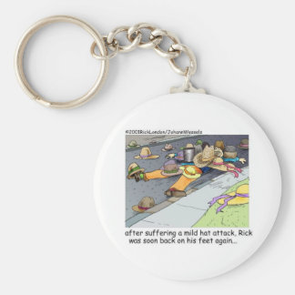 Hat Attack Funny Gifts Tees & Collectibles Basic Round Button Keychain