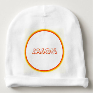 Hat, Baby - Flaming Circle with Name Baby Beanie