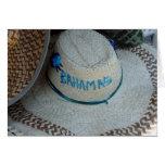 hat bahamas greeting card