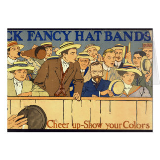 Hat-Band Advertising Poster 1910 Card