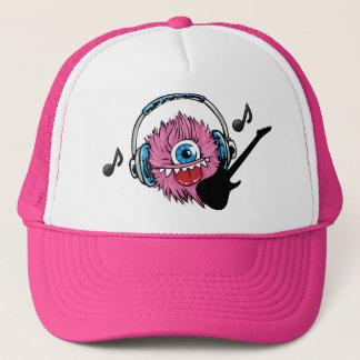 Hat, Baseball Cap, Pink One Blue Eye Music Monster Trucker Hat