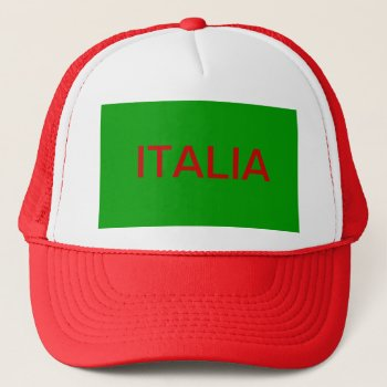 Hat    Baseball  Customize  W/name     Italia by creativeconceptss at Zazzle