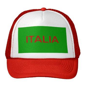 Hat    Baseball  Customize  W/name     Italia by creativeconceptss at Zazzle