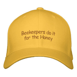 Hat - Beekeepers do it for the Honey Embroidered Baseball Cap