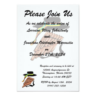 hat black pan flute ribbon music design.png card