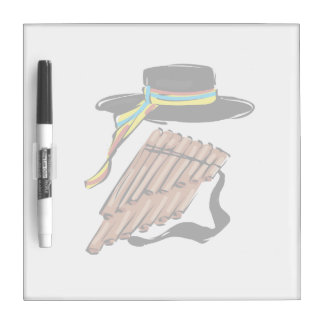 hat black pan flute ribbon music design.png dry erase whiteboards