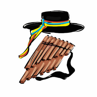 hat black pan flute ribbon music design png cut outs