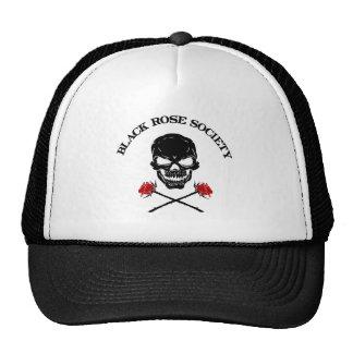Hat Black Rose Society Skull | Heartblaze