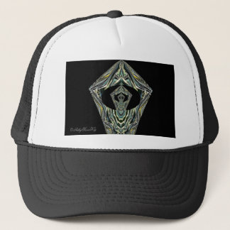 Hat. Black, White Trucker Hat