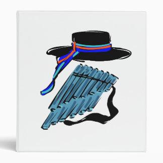 hat blue pan flute ribbon music design.png binder