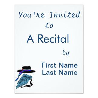 hat blue pan flute ribbon music design.png card