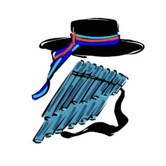 hat blue pan flute ribbon music design png cut outs