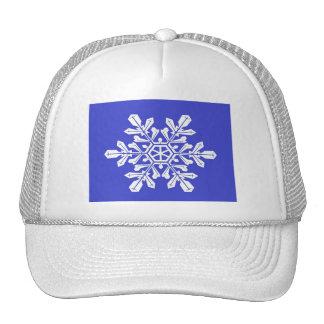 Hat Blue Snow Flake