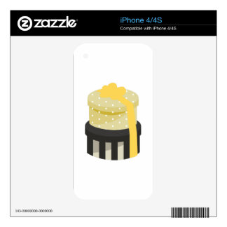 Hat Boxes Skins For iPhone 4
