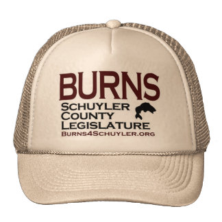(HAT) Burns for Schuyler County Legislature Trucker Hat