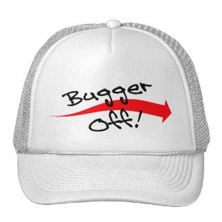 Hat Cap Fun British Slang Expression Bugger Off!