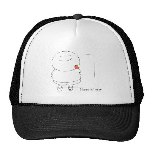 Hat Cap - Happy is happy - Orange