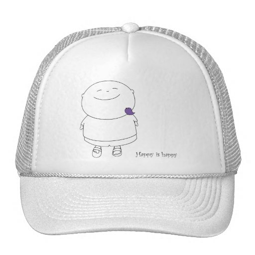 Hat Cap - Happy is happy - Purple