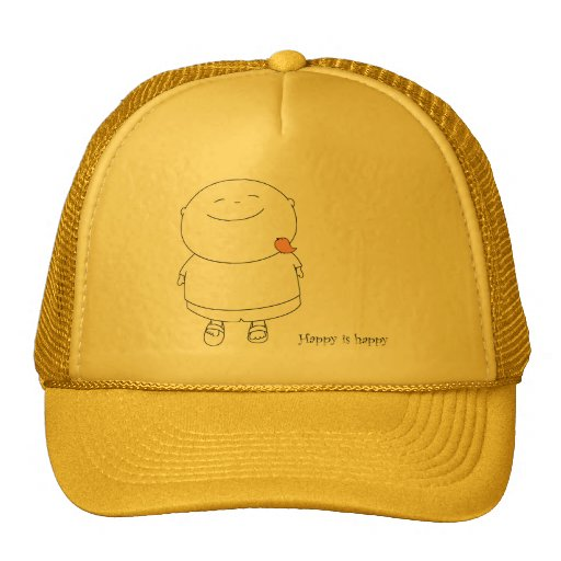 Hat Cap - Happy is happy - Terracotta
