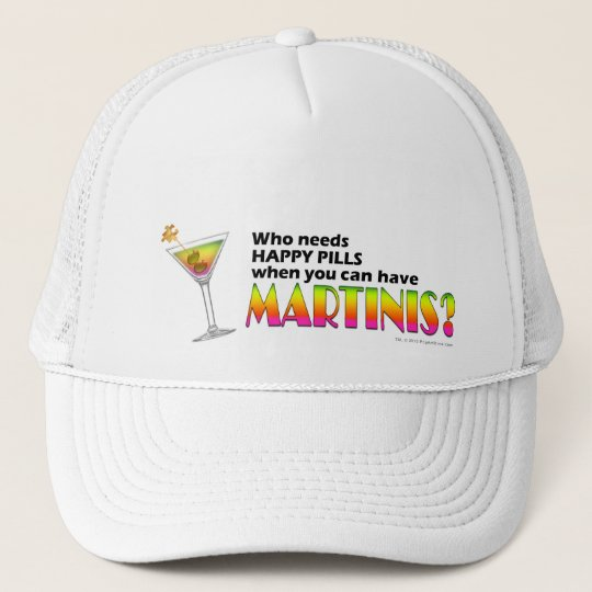 Hat, Cap - Martinis v. Happy Pills