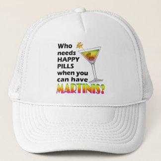 Hat, Cap - Martinis v. Happy Pills