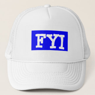 Hat Cap ~ Text Msg FYI For Your Information retro