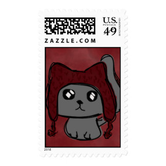 Hat Cat Postage Stamps