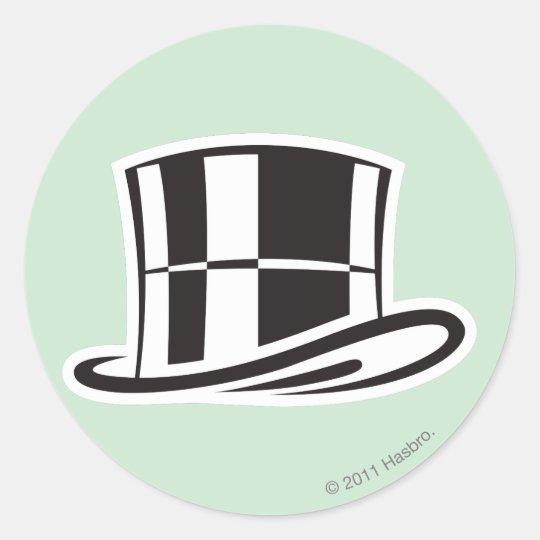 Hat Classic Round Sticker