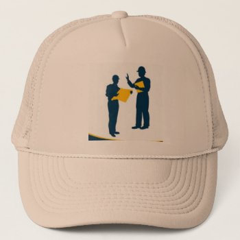 Hat Construction Hat Beige Customize by CREATIVEforBUSINESS at Zazzle
