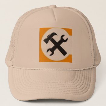 Hat Constructioon Hatbeige Customize by CREATIVEforBUSINESS at Zazzle